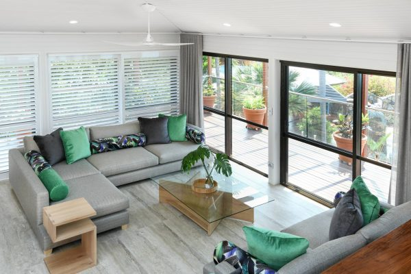 Lounge with shutters