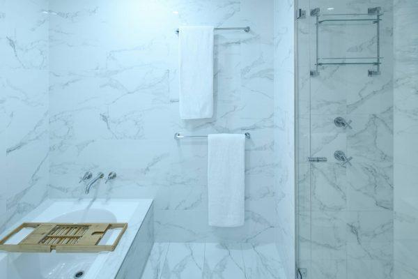 Upstairs bathroom bath & shower