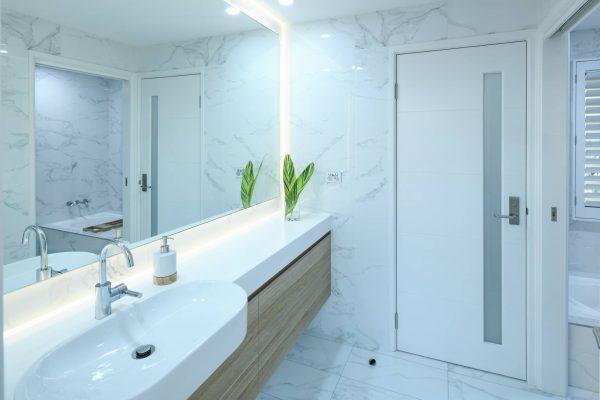 Upstairs bathroom vanity